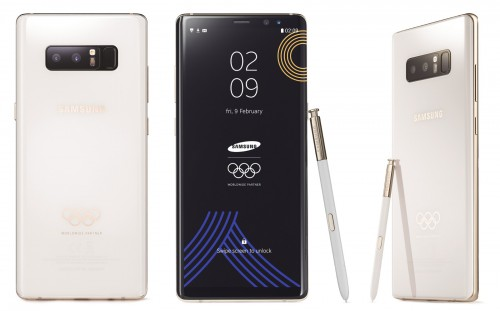 Tampilan Samsung Galaxy Note 8 edisi Olimpiade Musim Dingin.