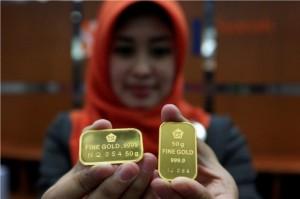 Harga Emas Antam Kembali Tertekan jadi Rp635 Ribu/Gram