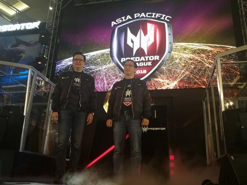 Presiden Acer Pan Asia PAasifik Andrew Hou dan Presiden Direktur