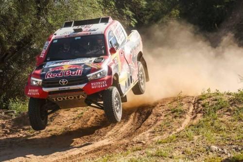 aksi Al-Attiyah di S13 Dakar Rally 2018. Dakar