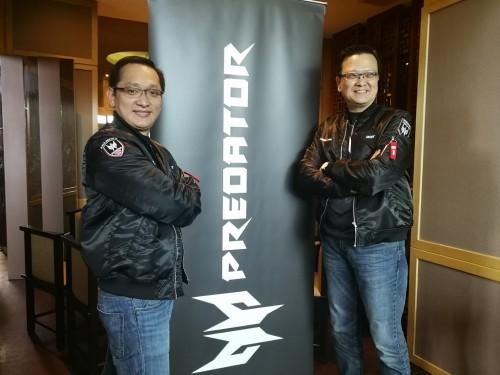 Presiden Direktur Acer Indonesia Herbet Ang dan Presiden Acer