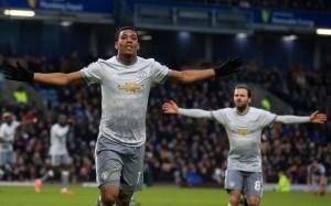 Gol Martial Bawa MU Menang di Markas Burnley