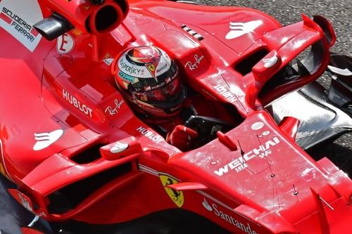 Kimi Raikkonen menunggangi mobil Ferrari. (Foto: AFP PHOTO /