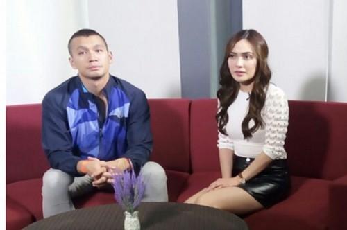 Shandy Aulia dan Samuel Rizal saat berkunjung me ruang redaksi