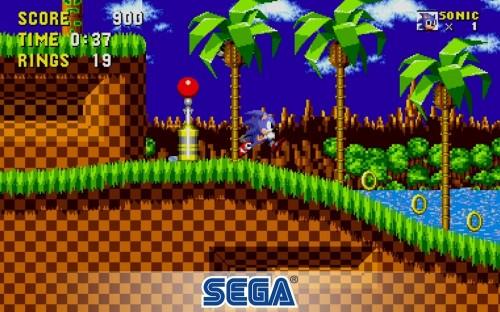 Tampilan gameplay Sonic The Hedgehoc Classic yang dirilis untuk