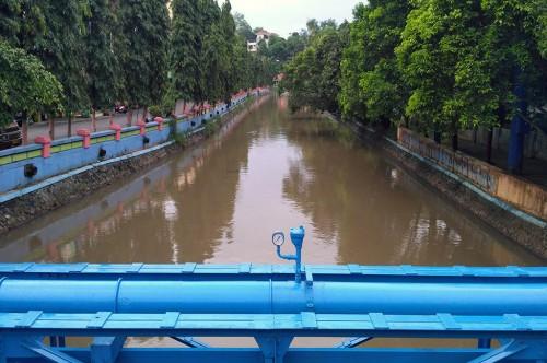 Aliran Sungai Wiso di Jepara, Jawa Tengah -- Medcom.id/Rhobi