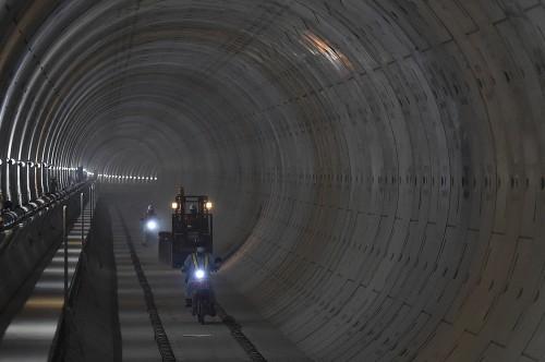 Proyek pembangunan MRT. Foto: Puspa Perwitasari.