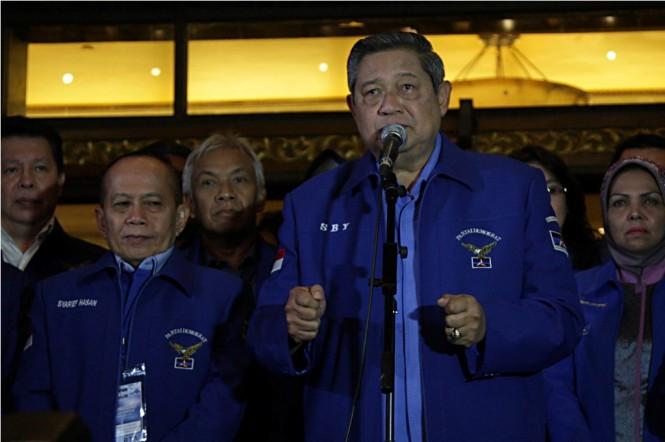 Ketua Umum Partai Demokrat Susilo Bambang Yudhoyono (SBY)--MI/Panca Syurkani