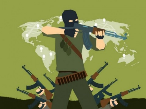 Teroris di Banyumas Penyuplai Senpi Teroris Bom Thamrin