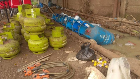 Rumah Pengoplos Gas Elpiji Telah 1 Tahun Beroperasi
