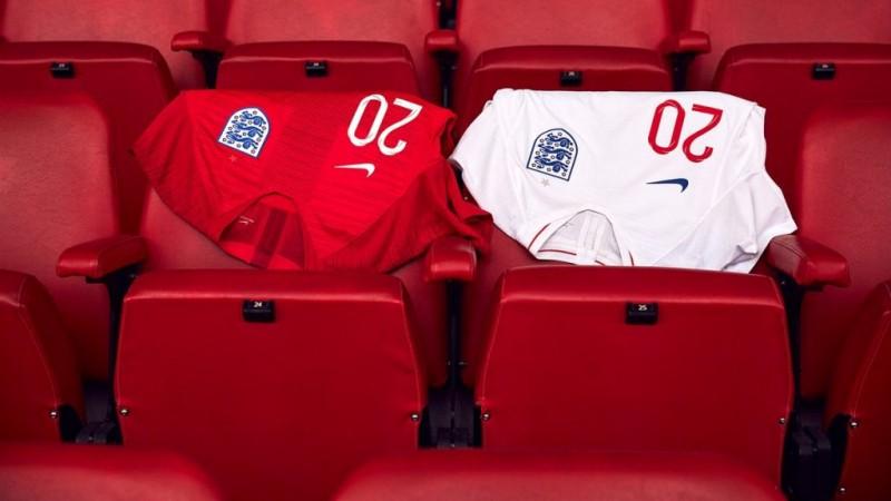 Jersey Tim Nasional Inggris 2018 (Foto/Twitter @England)