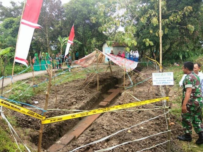 Lokasi penemuan situs purbakala diduga berasal dari zaman Majapahit. (Medcom.id/Syaikhul Hadi)
