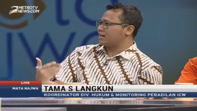 Peneliti ICW Tama S Langkun.