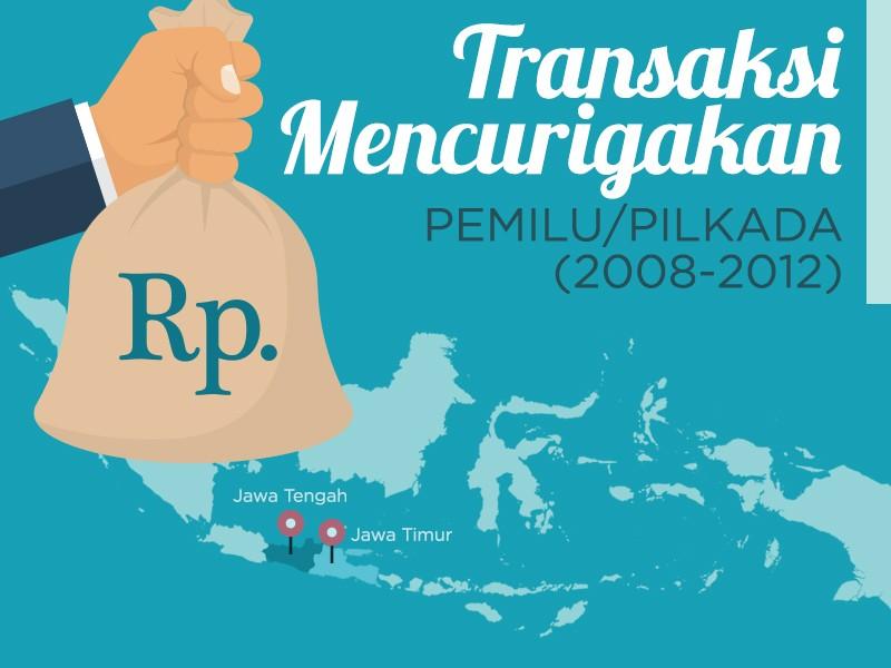 Infografis: Transaksi Mencurigakan Pemilu Pilkada (2008-2012)