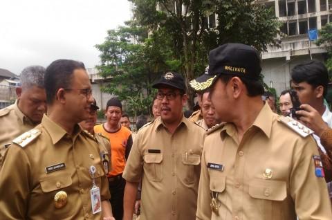 Gubernur DKI Pantau Bendung Katulampa Bogor