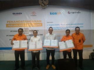 Kioson Gaet Pos Indonesia Kerja Sama Layanan Jasa Kurir