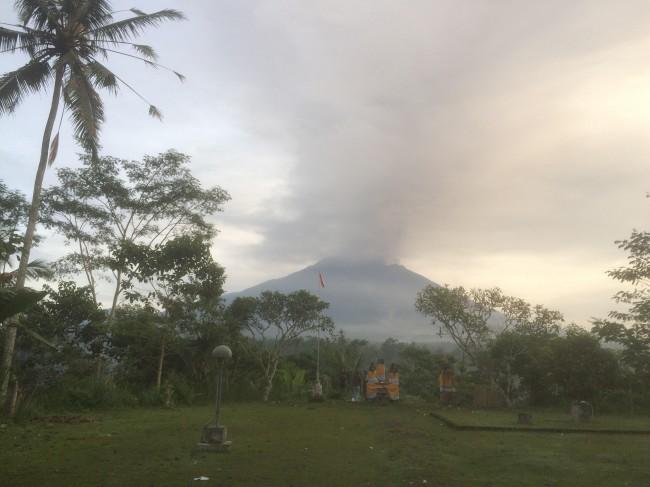 ilustrasi Gunung Agung. Medcom.id