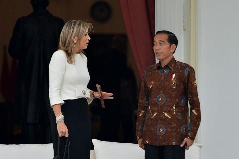 Jokowi Bertemu Ratu Maxima Bahas Penyederhanaan Sistem Keuangan