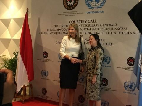 Ratu Maxima Puji Sistem Bantuan Non Tunai Indonesia