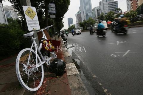 Ada Monumen Sepeda di Lokasi Tabrak Lari Produser RTV