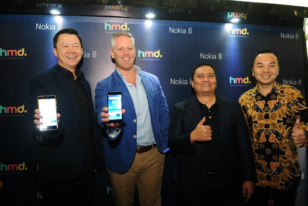 Nokia 8 resmi meluncur di Indonesia.