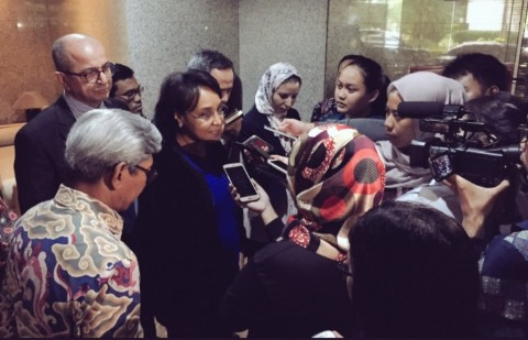 Wakil Menteri Urusan Luar Negeri Maroko Mounia Boucetta di