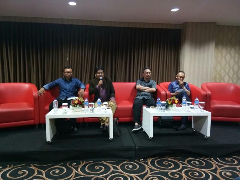 Diskusi 'Penyikapan RKUHP dan Revisi UU MD3: Selamat Datang Politik Anti Kritik dan Anti Demokrasi' di D'Hotel, Setiabudi, Jakarta Selatan, Selasa, 13 Februari 2018/Medcom.id/Achmad Zulfikar Fazli