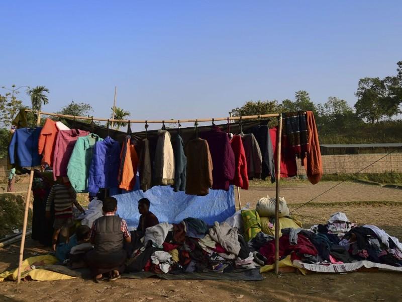 Keadaan pengungsi Rohingya di perbatasan Bangladesh. (Foto: AFP)