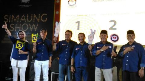Pengundian nomor urut Pilwalkot Bandung 2018. (medcom.id/Roni