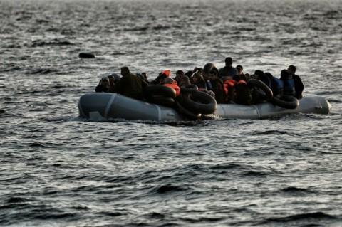 Imigran yang pernah diselamatkan di Sungai Evros. (Foto: AFP)