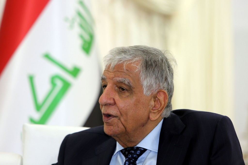 Iraqi Oil Minister Jabbar al-Luaybi speaks during an interview with AFP at his office in Baghdad on February 11, 2018.  (Photo:AFP/Sabah Arar)