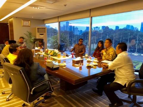 Ketua DPR Bambang Soesatyo membahas RUU Penyiaran dengan