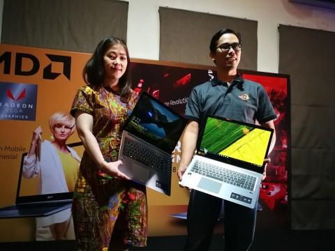 Dua varian Acer Swift 3 dengan prosesor AMD Ryzen 5 Mobile dan
