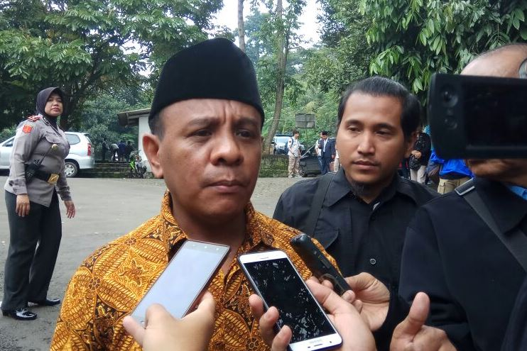 Ketua Panitia Pengawas Pemilu (Panwaslu) Kota Bogor Yustinus Elias. Foto: Medcom.id/Rizky Dewantara