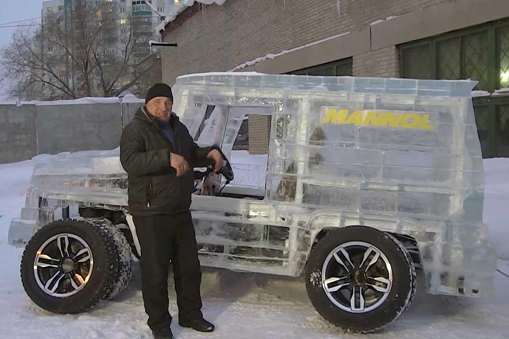 Pemahat es asal Rusia bikin ?Mercedes-Benz G63 AMG Terbuat dari es. Autoevolution