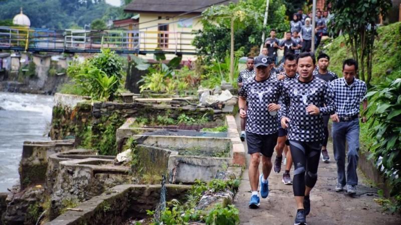 'Badra Gerilya bersama Runners'. (Medcom.id/Rizky Dewantara,)