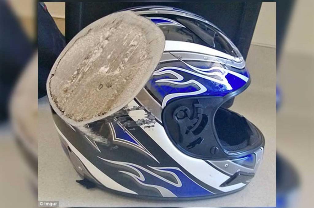 Bagian pelipis helm adalah bagian terpenting untuk melindungi kepala manusia. Dailymail