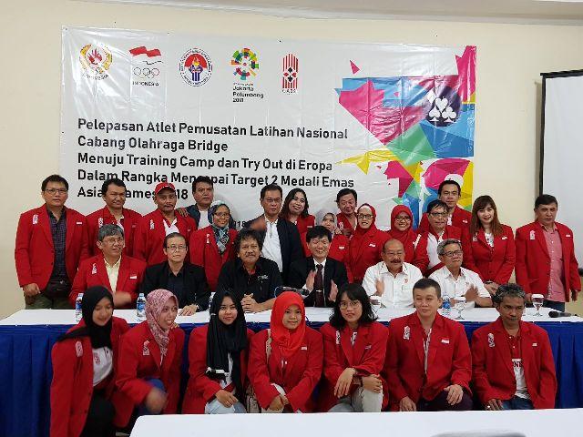 Pelepasan 38 atlet bridge Indonesia menuju Eropa-Medcom.id/Monica