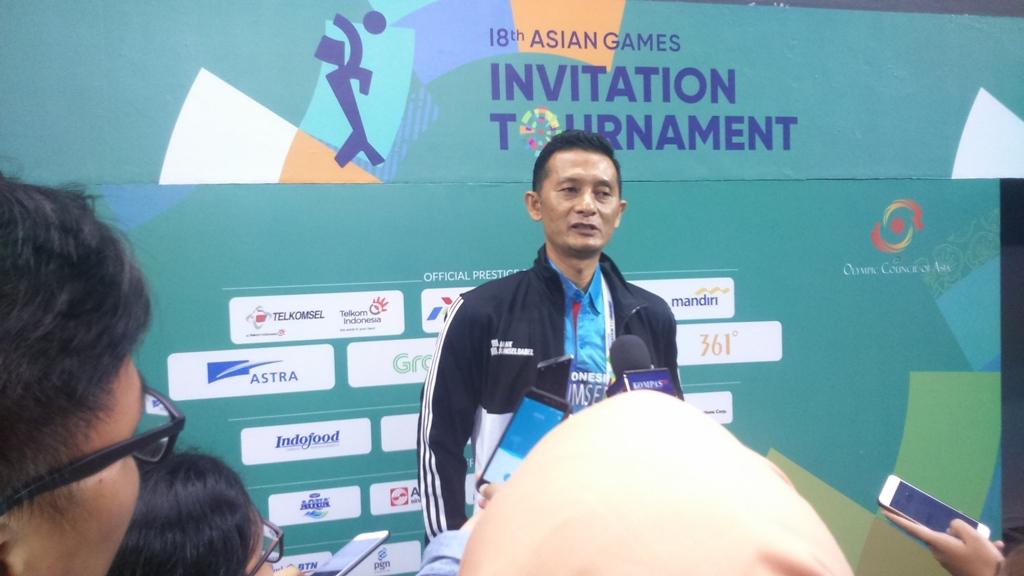 Pelatih Voli Indonesia 2 Samsul Jais (Foto: Rendy Renuki Hardito/Medcom)
