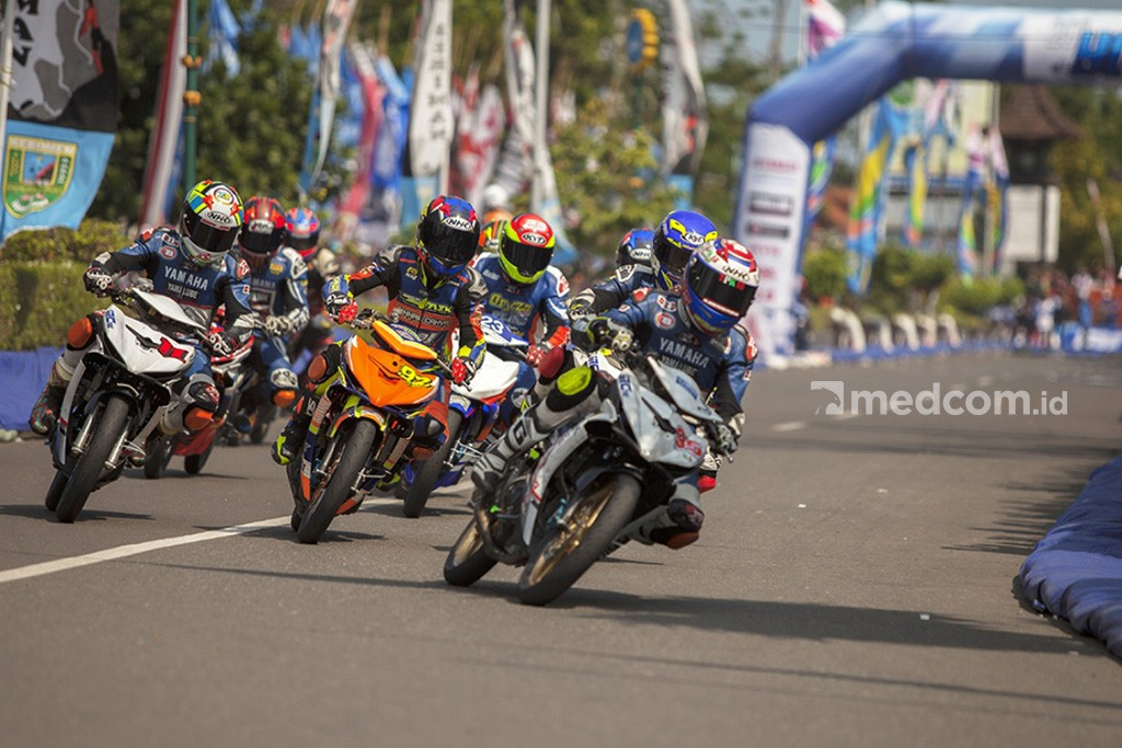 Balap Motoprix 2018 jadi arena pembuktian Pirelli. Medcom/ A. Harry Budiawan