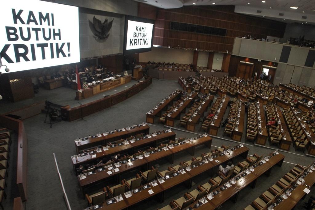 Suasana Rapat Paripurna Penutupan Masa Sidang di Komplek Parlemen, Jakarta. (Foto: ANTARA/Muhammad Adimaja)