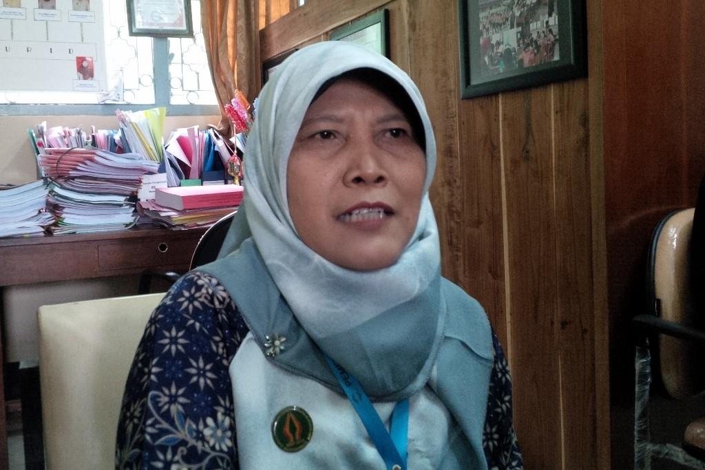 Kepala Sekolah SDN 2 Jetis Temu Lestari di Yogyakarta, Kamis, 15 Februari 2018. Medcom.id/Patricia Vicka