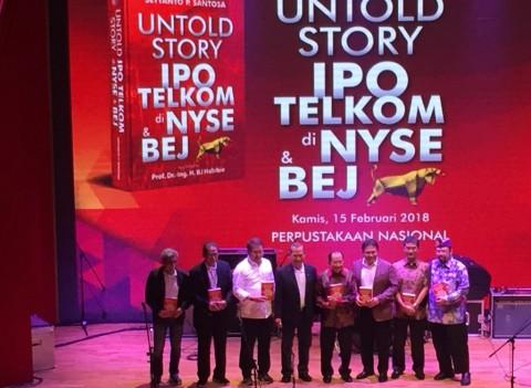 Jatuh Bangun IPO Telkom Diabadikan dalam Buku