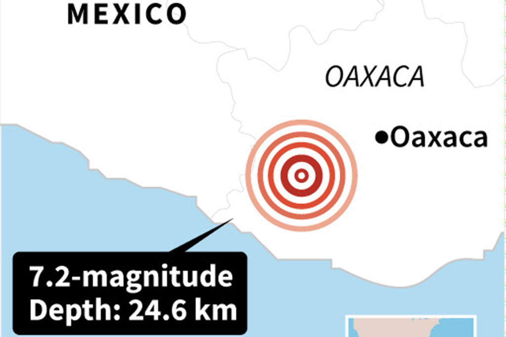 Gempa 7,2 SR Guncang Meksiko
