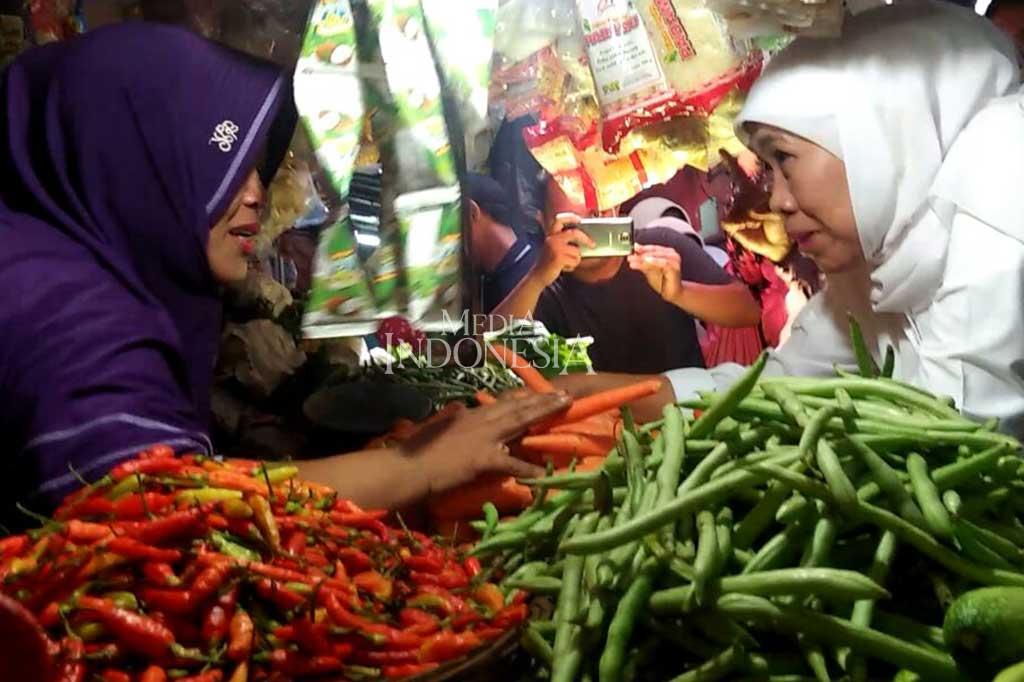 Khofifah Blusukan ke Pasar Tradisional