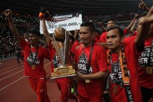 Potret Keceriaan Persija usai Menjuarai Piala Presiden 2018