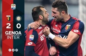 Diwarnai Gol Bunuh Diri, Inter Tumbang di Markas Genoa