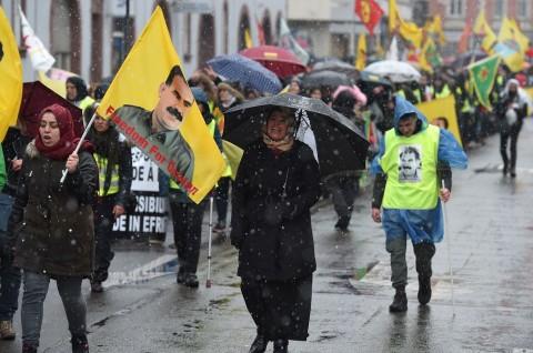 Ribuan Kurdi di Prancis Protes Operasi Afrin oleh Turki