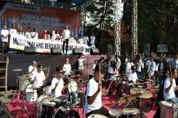 Puluhan Musisi Meriahkan Deklarasi Damai Pilwako Malang
