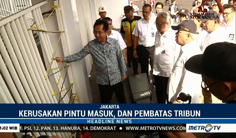 Menteri Pekerjaan Umum dan Perumahan Rakyat (PUPR) Basuki Hadimuljono meninjau SUGBK yang rusak akibat ulah oknum - Metro TV.